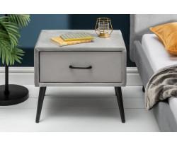 LONDON noční stolek šedý samet